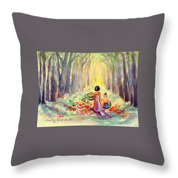 Gathering Medicine Throw Pillow