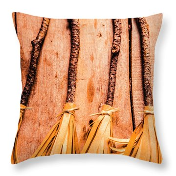Gathering Of 4 Evil Witches Throw Pillow