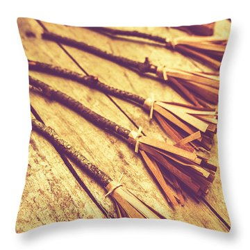 Gathering Of Salem Witches Throw Pillow