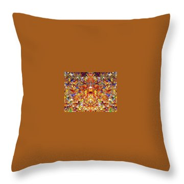 Gathering Of The Leaf Gods Throw Pillow