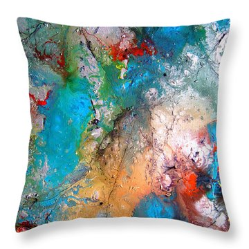 Gathering Throw Pillow by Pearlie Taylor