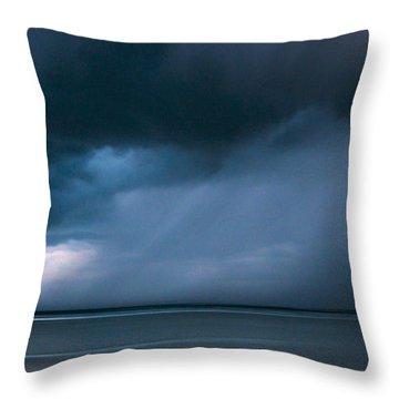 Gathering Storm Throw Pillow by John Greim