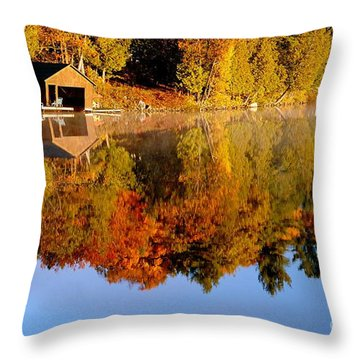 Gatineau Park Taylor Lake Throw Pillow