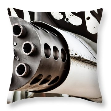 Gatling Throw Pillow by Lawrence Burry