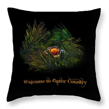 Gator Country  Throw Pillow