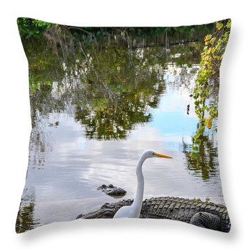Gator Fam Throw Pillow