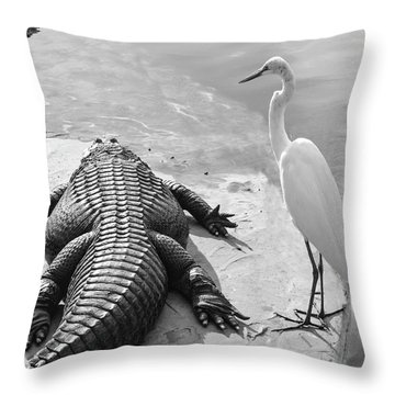 Gator Hand Throw Pillow