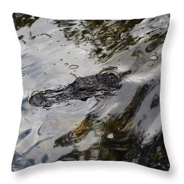 Gator Profile Throw Pillow
