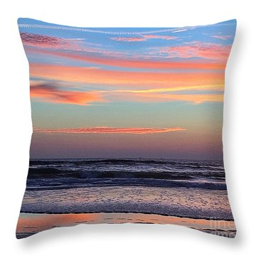 Throw Pillow featuring the photograph Gator Sunrise 10.31.15 by LeeAnn Kendall