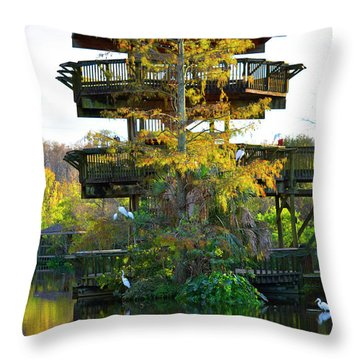 Gator Tower Throw Pillow