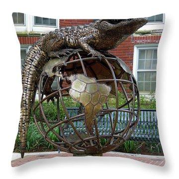 Gator Ubiquity Throw Pillow by D Hackett