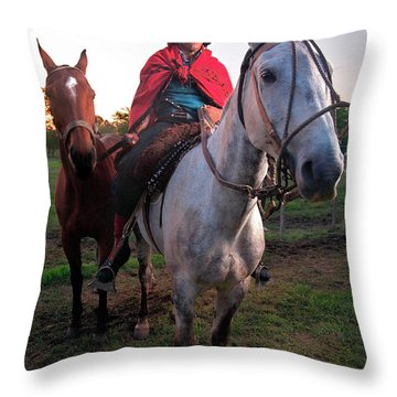 Gaucho Argentino Throw Pillow by Bernardo Galmarini