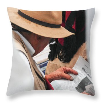 Gaucho Reading Throw Pillow
