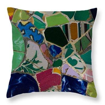 Gaudi Throw Pillow by Peter Verdnik