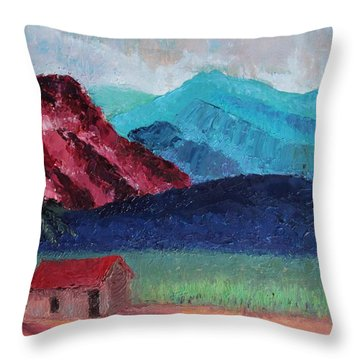 Gauguin Canigou Throw Pillow