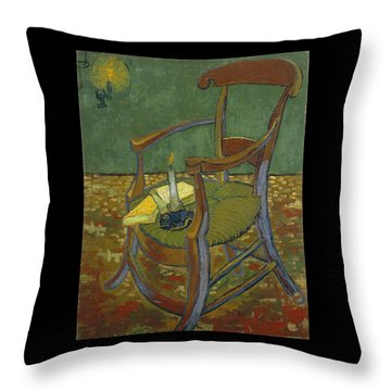 Throw Pillow featuring the painting Gauguin's Chair by Van Gogh