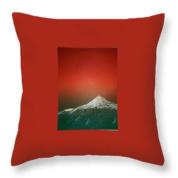 Gaustatoppen 2 Throw Pillow by Jarle Rosseland