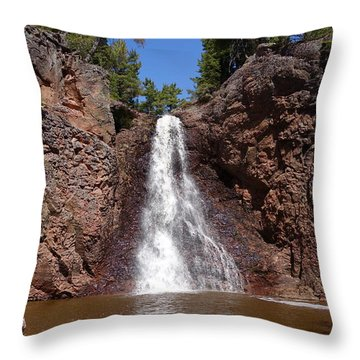 Throw Pillow featuring the photograph Gauthier Falls by Sandra Updyke