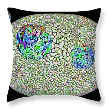 Gauzean Orbits 1 Throw Pillow by Bruce Iorio