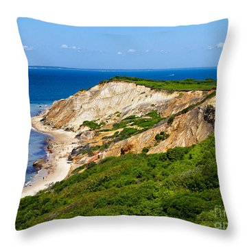 Throw Pillow featuring the photograph Gay Head Cliffs by Mark Miller