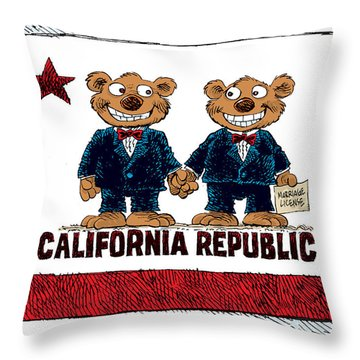 Gay Marriage In California Throw Pillow