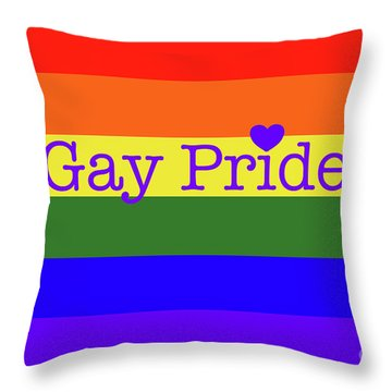 Gay Pride Love Throw Pillow