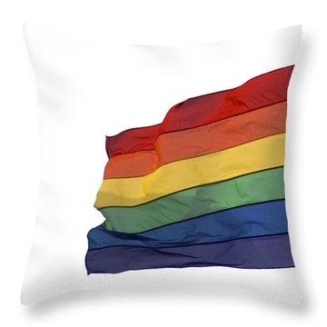 Gay Rainbow Flag  Throw Pillow