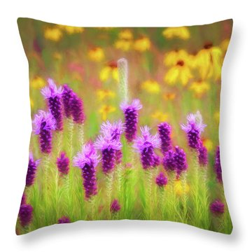 Gayfeather Wildflower Impressions Throw Pillow