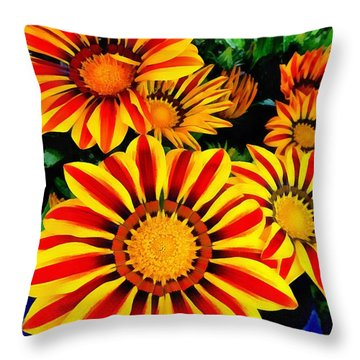 Gazania Splendour Throw Pillow