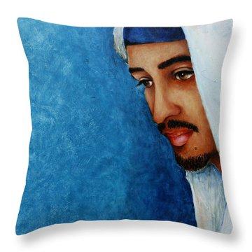 Gaze Of Peace Throw Pillow by Jun Jamosmos