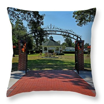 Throw Pillow featuring the photograph Gazebo At Celebration Park by Judy Vincent