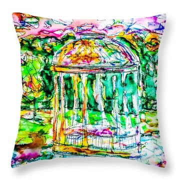 Gazebo Sunset Throw Pillow