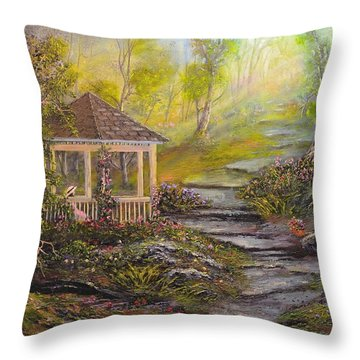 Gazebo's Light Throw Pillow