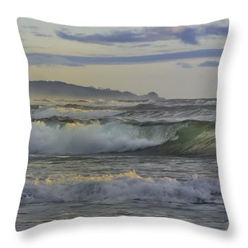 Gazing At The Ocean Surf Throw Pillow