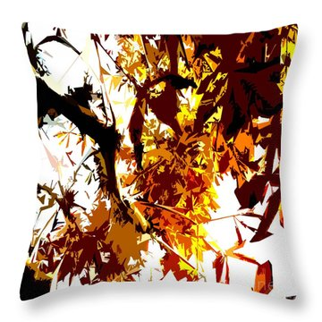 Gazing Into The Autumn Trees Throw Pillow by Patrick J Murphy
