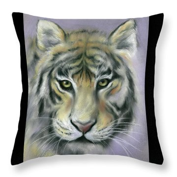 Gazing Tiger Throw Pillow