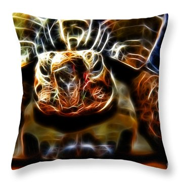 Gazing Turtle Throw Pillow
