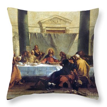 G.b. Tiepolo: Last Supper Throw Pillow by Granger