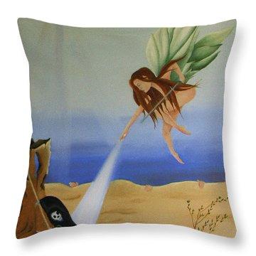 Gea. Life Breaks Through Throw Pillow