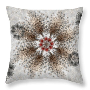 Gear Lace Throw Pillow
