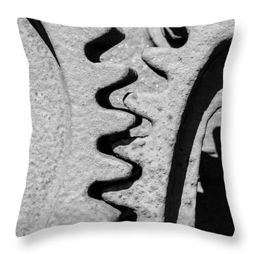Gear - Zoom, Close Up Throw Pillow