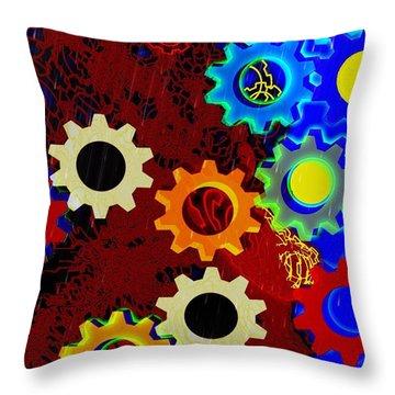 Gears 1 Throw Pillow
