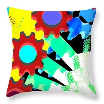 Gears 5/ Flowers Throw Pillow