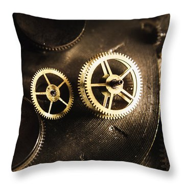 Gears Of Automation Throw Pillow