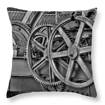 Gears Throw Pillows