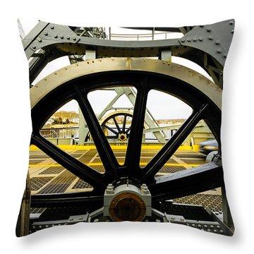 Gears Work Throw Pillow