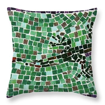 Throw Pillow featuring the ceramic art Gecko by Jamie Frier