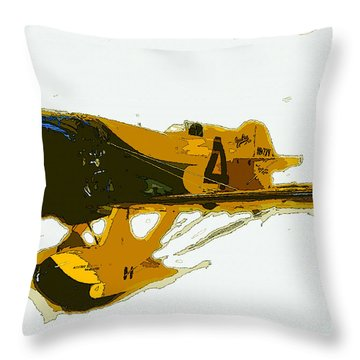 Gee Bee Model Z Throw Pillow by David Lee Thompson