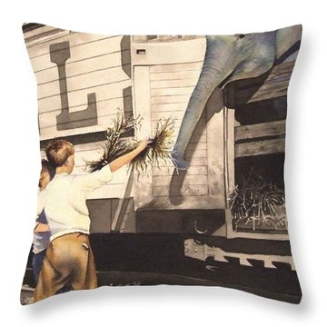 Gee Whiz I Throw Pillow by Greg and Linda Halom