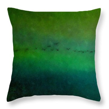 Geese In Flight  Throw Pillow